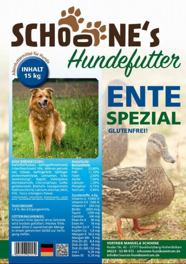 Manuela Schoone - Schoones Hundefutter Ente Spezial